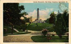 Postcard - Lincoln Monument - Oak Ridge Cemetary - Springfield. Illinois