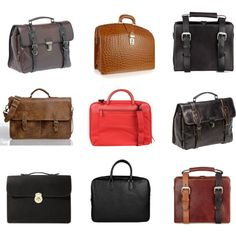 Sexy briefcases (minus the modern center one)