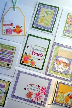 #ctmhkaleidoscope leftovers from my scrapbooking class. So many cute cards! marygunnfunn