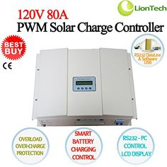 NEW 120V 30A40A50A60A80A100A PWM Solar Panel Charge Controller Regulator Charger Safe With LCD Display  RS232 PC Smart Control  CE Current 80A ** You can find out more details at the link of the image. (This is an affiliate link and I receive a commission for the sales) #SolarPanelsForHome