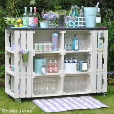 DIY outdoor bar 1 | Blogged at Torie Jayne.com Blog|Facebook… | toriejayne | Flickr