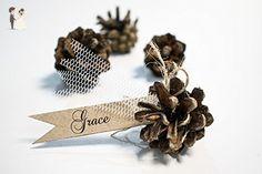Set of 50 Wedding name card holder - rustic wedding decor - name card holder - pine cone card holder - place card holder - Eco friendly - Wedding table decor (*Amazon Partner-Link)