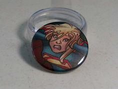 "Comic Book 1.5"" Button// Supergirl, $1.00"