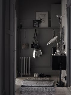 Lotta Agaton's grey cave in Residence Magazine, pictures by Pia Ulin, via http://www.scandinavianlovesong.com/