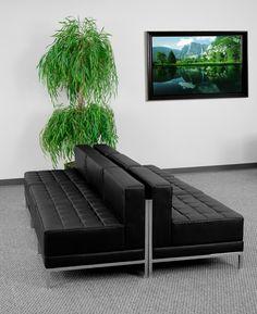 Flash Furniture Imagination Black Reception Club Chair | ZB-IMAG-MIDCH-6-GG