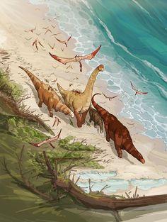 Lower Cretaceous Beach by VanOxymore on DeviantArt