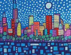 Modern Cross Stitch Kit ' Chicago' By Heather Galler by GeckoRouge, $90.00