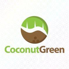 Exclusive Customizable Logo For Sale: Coconut Green | StockLogos.com https://stocklogos.com/logo/coconut-green