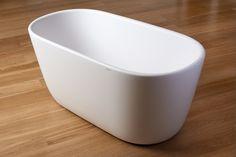 Aquatica Lullaby-Mini-Wht™ Freestanding Solid Surface Bathtub