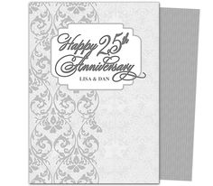 Wedding Anniverary Party Templates : Vows 50th Wedding Anniversary Party Invitation Template with lace design