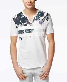 68577b68 INC International Concepts Faux Leather Men's Colorblocked Floral T-Shirt,  Created for Macy's & Reviews - T-Shirts - Men - Macy's