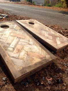Chevron cornhole boards