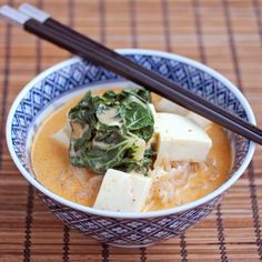 Red Curry Coconut Noodle Soup - this Asian noodle soup is a little spicy and creamy from Thai red curry paste and coconut milk