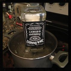 How to cut a Jack Daniel's bottle.