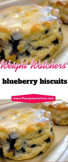 biscuits are spiked with fresh, sweet blueberries in this crowd-pleasing Blueberry Biscuits recipe. This recipe is perfect to replace your traditional buttermilk biscuit recipe at breakfast. Weight Watcher Desserts, Weight Watchers Meal Plans, Weight Watchers Breakfast, Weight Watchers Diet, Weight Watchers Chicken, Ww Desserts, Healthy Desserts, Dessert Recipes, Recipes Dinner