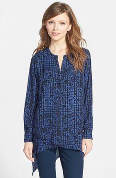Pleione Print Layered Split Neck Tunic available at #Nordstrom #pleione #tunic #womensfashion #print