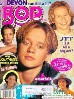 Bop magazine, Devon Sawa, Andrew Keegan, Andrew and Matthew Lawrence, JTT!