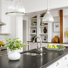 Different types of countertops require different methods of care. Read on for the right way to clean the countertops in your kitchen or bath: http://www.bhg.com/homekeeping/house-cleaning/tips/how-to-clean-countertops/?socsrc=bhgpin121214granitecountertops&page=2