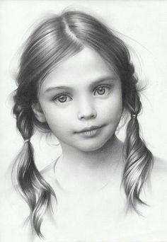 Retrato de una chica, realizado a lápiz por Andrei Belichenko... Impresionante el talento de este chico