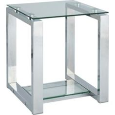 Buy Seattle End Table - Glass and Metal at Argos.co.uk - Your Online Shop for Occasional and coffee tables.