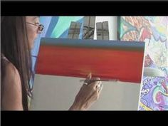 Painting With Acrylics : How to Paint a Sunset With Acrylic Paint - YouTube