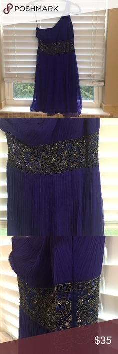 Dress Blue one shoulder size 2 Sue Wong dress size 2. In very good condition. Sue Wong Dresses One Shoulder