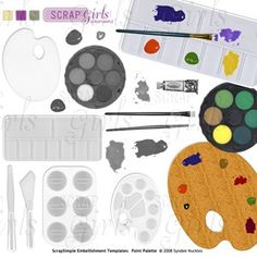 Artist Palette Cake Template : 1000+ images about Williams s third birthday ideas on ...