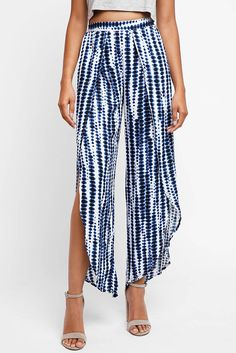 Abbeline Blue Printed Wrap Pants | South Moon Under
