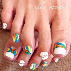 Instagram media obaasema #nail #nails #nailart White Nail Designs, Short Nail Designs, Toe Nail Designs, Beautiful Nail Designs, Pretty Pedicures, Pretty Toe Nails, Pretty Toes, Toe Nail Color, Toe Nail Art