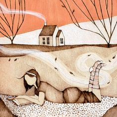 "Autumn: Art & Design inspiration ""one autumn afternoon"" by Lauren Gray"