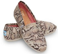 Natural Canvas Snake Women's Classics at TOMS Shoes. LOVE