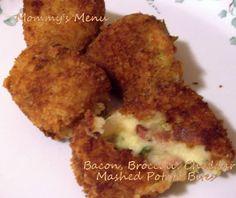 Mommy's Menu: SRC: Broccoli, Bacon Cheddar Mashed Potato Bites