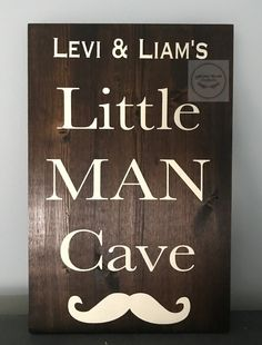 Little Man, Man Cave, Signs, Yellow, Home Decor, Homemade Home Decor, Shop Signs, Sign, Decoration Home