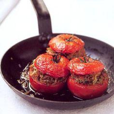 Vegan Gevulde tomaten op z'n Grieks - recept - okoko recepten