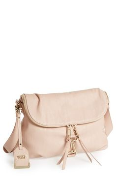 POVERTY FLATS by rian 'Tunnel' Faux Leather Shoulder Bag available at #Nordstrom