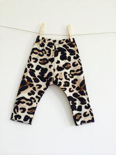 Leopard Print Harem Pants Leggings // Animal Print // Girls Harems // Leopard Leggings // Stylish Clothes // Hipster Baby // Modern Baby