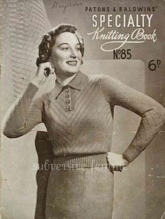 a cat among the pigeons: Oranges, greys and another 30's knit