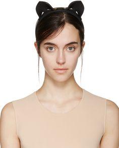 Fleet Ilya: Black Cat Ear Headband | SSENSE