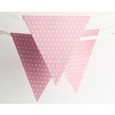 Light Pink Polka Dot Bunting