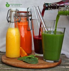 raw orange, carrot, betroot & spinach juice