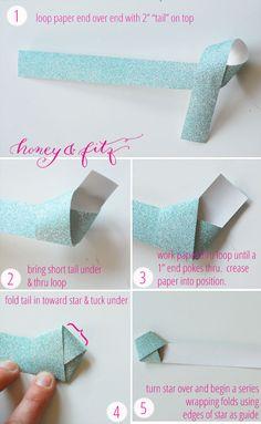 DIY Origami Star Garland Tutorial