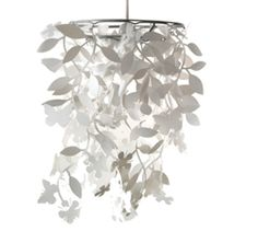 Hanglamp bloemen en vlinders wit | Lief en KleinLief en Klein