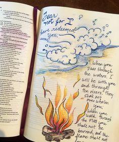 Bible Study Discover Walk through Water & Fire Printable Bible Faith Prayer Journal Template Art Journaling, Bible Study Journal, Scripture Study, Bible Art, Bible Journaling For Beginners, Bible Drawing, Bible Doodling, Manga Drawing, Bible Notes