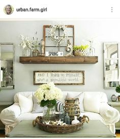 Marvelous farmhouse style living room design ideas 38 living room wall decor ideas above couch, Rustic Walls, Rustic Wall Decor, Rustic Wood, Country Wall Decor, Vintage Window Decor, Rustic Gallery Wall, Kitchen Gallery Wall, Brown Wall Decor, Shabby Chic Wall Decor
