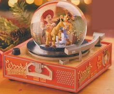 Disney world Toy Story Record Player Snowglobe *RARE* Water Globes, Snow Globes, Peanuts Christmas, Christmas Gifts, Disney Magic, Walt Disney, Disney Pixar, Disneyland, Disney Snowglobes