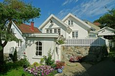 Small and lovely houses in the Seaside Resort and Santa Town Drøbak in Oslo Fjord, Norway. www.visitdrobak.no