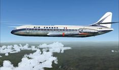 Air France, Air Inter, Caravelle, Sud Aviation, Concorde, Airplanes, Jet, Aircraft, Vintage