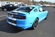 2014 Blue Ford Mustang Shelby http://www.iseecars.com/used-cars/used-ford-mustang-for-sale