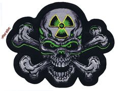 Lethal Threat Motorcycle Bike Jacket Embroidered Patch AXE CLOWN MN32067 SMALL
