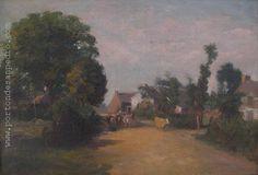"""Manuel Barthold (1874-1947) """"Campiña"""" Óleo sobre tela 39 X 56 cms. http://www.portondesanpedro.com"""